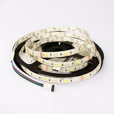 5050 RGBW WARMWHITE LED STRIP LIGHT 5PIN 16.5FT WATERPROOF IP65 300LEDS TV BACK