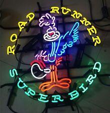 "19""x19"" Super Bird Road Runner Vintage GARAGE CUSTOM GLASS NEON LIGHT SIGN"