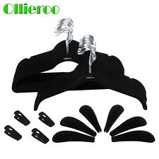 Ollieroo 50set Flocked Non-Slip Velvet Huggable Hangers Clothes Hangers