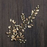 Luxury Bridal Wedding Gold Leaves Hair Clip Headpiece Tiara Headband Hair Band