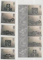 Reino Unido De 2001 Perfecto Estado MiNr.1909-1913 I+II - Tarjeta de Sellos! Top