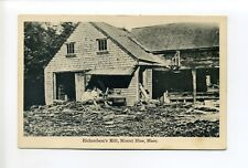 Mount Blue MA Mass (Hingham, Norwell) Richardson's Mill, people, derelict bldg?