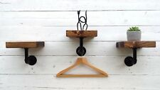 INDUSTRIAL WALL MOUNT DISPLAY SHELF HANGING IRON PIPE BRACKET SHELVING DECOR