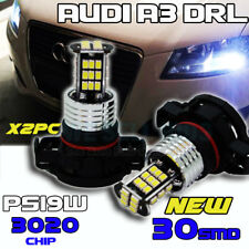 2x 30SMD PS19W AUDI A3 LED WHITE DRL SIDELIGHT BULB H16 5202 PSX24W 9009