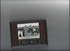 HOLY BULL PLAQUE HORSE RACING TURF MIKE SMITH