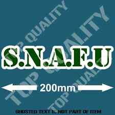 SNAFU FUNNY Decal Sticker BUMPER CAR TRUCK RALLY DRIFT GARAGE DECALS STICKERS