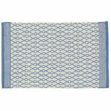 Bay Rug Blue and Grey 100% Cotton 60W x 120Lcm