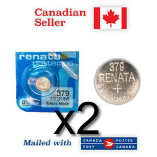 379 x 2 NEW! Renata Silver Oxide Batteries 1.55V - SR521SW, 618, SR-63