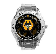 Wolverhampton Wanderers FC EPL Soccer Stainless Steel Analogue Men's Watch Gift
