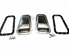 LAND ROVER DEFENDER 90 110 130 STAINLESS STEEL AIR INTAKE GRILLE SET RH LH NEW