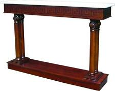 Solid Mahogany Hall Table / Console Table with Marble Top Antique Repro NEW T031