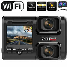 Dual Dash Cam with Infrared Night Vision and WiFi Dual 1080P Front and Inside
