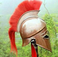 Greek Corinthian Helmet Red Plume Armour Medieval Knight Spartan TB58