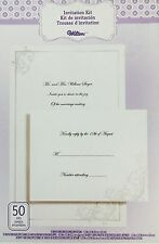 1X Set 50 Wilton DIY Black Tie Pearl Themed Party/Shower/Wedding Invitation Kit