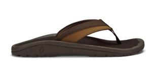 Olukai Ohana Koa Dark Wood/Dark Wood Sandal Flip Flop Men's US sizes 7-16 NEW!!