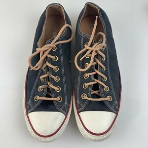 Converse Chucks All Star Sneakers Shoes Gray Red Lines Size Womens 8.5 Mens 6.5