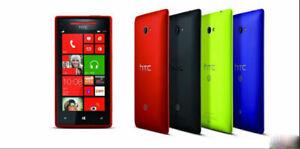 """HTC Windows 8X PM23200 Smartphone 16GB 1GB 4.3"""" LCD Black Beats Audio"""