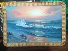 Very Large Seaview Oil Painting on canvas With  Decorative Frame