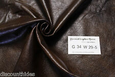 Med scrap leather: Brownie Batter. Small grain, high sheen Appx 10 sqft G34W29-5