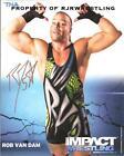 TNA IMPACT WRESTLING ROB VAN DAM SIGNED 8X10 PROMO PHOTO P-132 WWE RVD ECW NXT