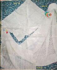 R3 Baby's Blanket & Shawl Knitting Pattern / Premature / Reborn doll / 3 & 4 Ply