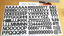 3 Cm Auto Adhesivo Etiqueta engomada del vinilo Letras Y Números 30mm - 25 Colores Disponibles
