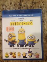 Minions (Blu-ray Disc, 2015, 2-Disc Set)Authentic US Release