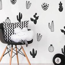 Cactus Wall Decals Woodland Tribal Vinyl Sticker Art Succulent and Cacti Decor