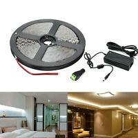 5m 10m 20M LED Stripe Set 2835 SMD Band Leiste Streifen warm kaltweiß + Netzteil