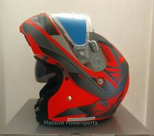 Hjc Cl-Max3 Gallant Snowmobile Helmet Orange Lg Large Modular Sunscreen