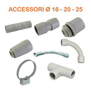 Accessori per tubo rigido impianti elettrici parete Pvc plastica tubi infilaggio