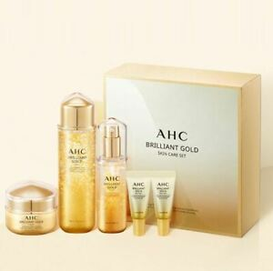 AHC Brilliant Gold Skin Care Set 3 Items + Eye Cream sample (New version)