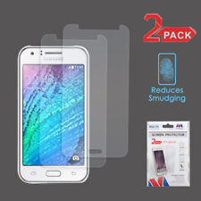 For Samsung Galaxy J7 2015/2016 Clear Anti-grease Lcd Screen Protector Film 2 Pk