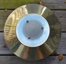 VINTAGE Lightolier CEILING LIGHT FIXTURE Scalini 1410 1980s glass brass Sciolari