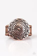 "Paparazzi Ring ""Seasonal Spinster"" - Brass Ring -Flower Design"