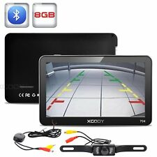 7'' 8GB ROM Vehicle GPS Navigation Bluetooth Wireless Reversing Camera XGODY 704