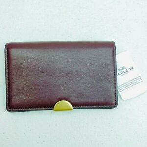 NWT Coach Dreamer Oxblood Glovetan Skinny Clutch Wallet Leather Smooth HTF