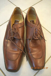 Johnston & Murphy Dress Shoes,, Brown Leather 11.5M - Good Condition