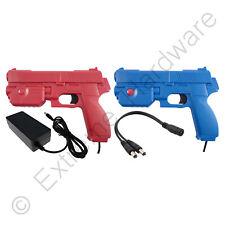 2 x Ultimarc AimTrak Red/Blue Arcade Recoil Light Guns & 24V 3A Power Supply PSU