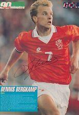 Dennis Bergkamp Mano Firmada Holanda Revista Foto.