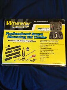 Wheeler Scope Mounting Kit Combo(1-Inch, 30mm) Gun Repair Hunter/Sportsman Used