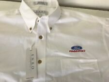 Ford Racing Shirt - White  - Short Sleeve - Large