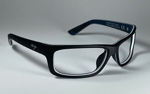 Maui Jim Kanaio Coast Black/Blue/White Sunglasses MJ766-02MD 61[]17-127 Frame