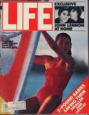 Life February 1981 Champion Wind Surfers / John & Yoko / Atlantic City Mafia