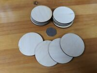 12x 60mm/6cm Wooden CIRCLE Craft Shapes Wood DIY Decoration Disc Plaque