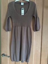 Ladies Next Jumper Dress Brown And Gold Jumper Dress Size 8 Brand New