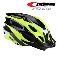 Casque vélo VTT adulte GES Rocket jaune fluo / noir avec visière fermeture Quick