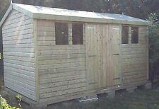 14 x 8 19mm Tanalised & Pressure Treated T&G Apex Garden Shed