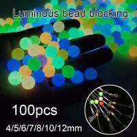 100pcs Luminous Fishing Beads Sea Fishing Lure Floating Float Tackle Accessories