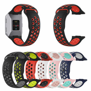 Replacement Dual Color Silicone Wrist Band Watchband Strap for Fitbit Ionic New